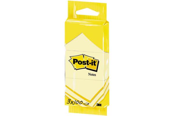 POST-IT Notes 38×51mm 6810 gelb 3x100 Blatt