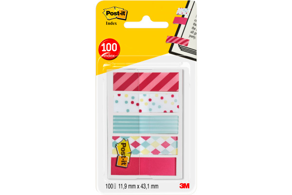 POST-IT Index Standard 43,2x11,9mm 684-CAN5 Candy 5x20 Blatt
