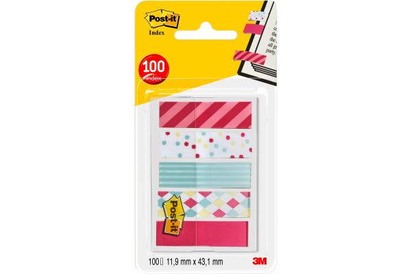 POST-IT Index Standard 43,2x11,9mm 684-CAN5 Candy 5x20 Blatt
