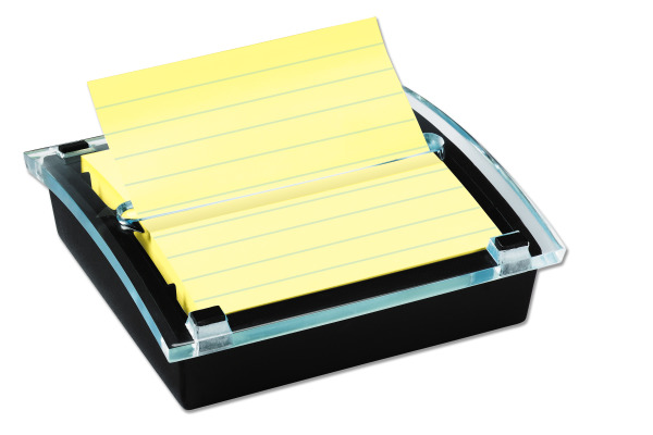 POST-IT SuperSticky Notes 101x101mm DS440SSCY Dispenser gelb/trans. 90 Blatt