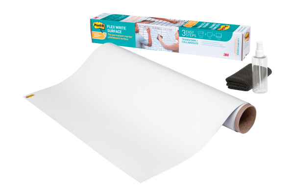 POST-IT Flex Write Surface Folie FWS3X2 weiss 60x90cm