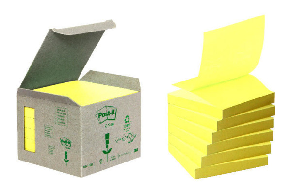 POST-IT Recycling Z-Notes 76x76mm R330-1B pastellgelb 6 Stück