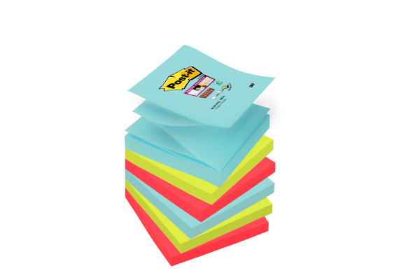 POST-IT Super Sticky Z-Notes 76x76mm R3306SSMI Miami 4 Farben 6x90 Blatt