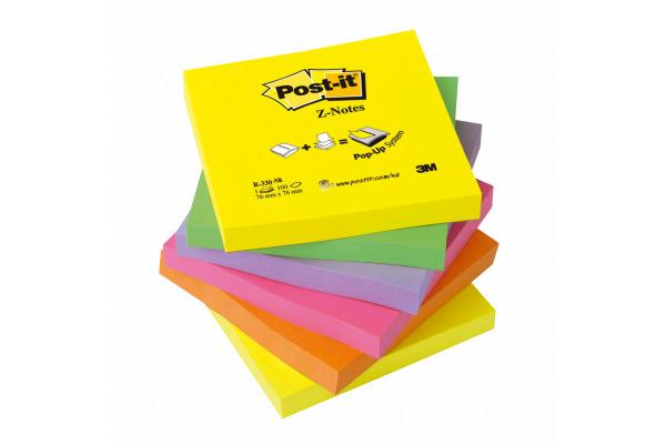 POST-IT Z-Notes refill Rainbow 76x76mm R330NRB 6-farbig neon 6x100 Blatt