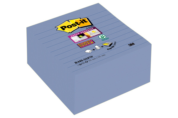 POST-IT Super Sticky XYZ-No. 101x101mm R440-SSPW veilchenblau, liniert 5 Block