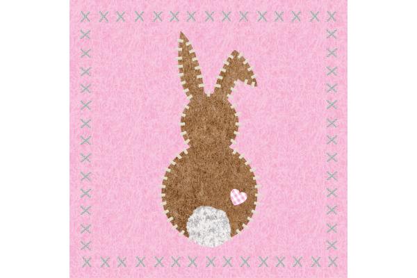 PPD Servietten 33x33cm 1332731 Bunny felt rosé 20 Stück