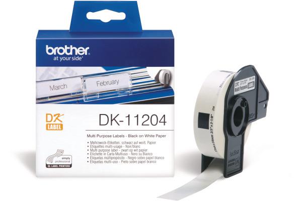 PTOUCH Mehrzweck-Etiketten 17x54mm DK-11204 QL-500 550...