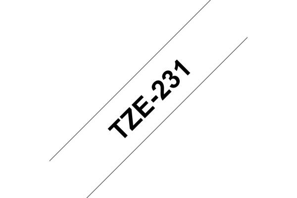 PTOUCH Band, laminiert schwarz weiss TZe-231 PT-1280VP 12 mm