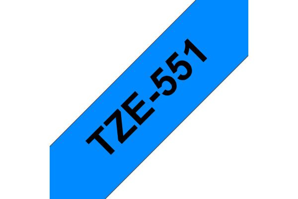 PTOUCH Band, laminiert schwarz blau TZe-551 PT-2450DX 24 mm