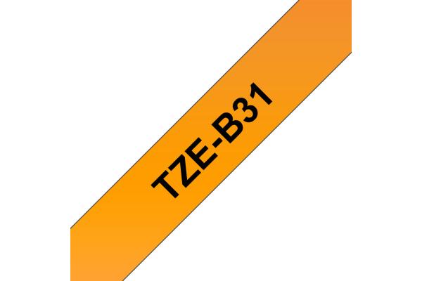 PTOUCH Band, lamit,fluoreszierend schwarz orange TZe-B31 PT-300 12 mm