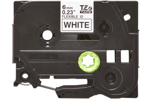 PTOUCH Flexitape lamin. schwarz weiss TZe-FX211 zu PT-550 6 mm