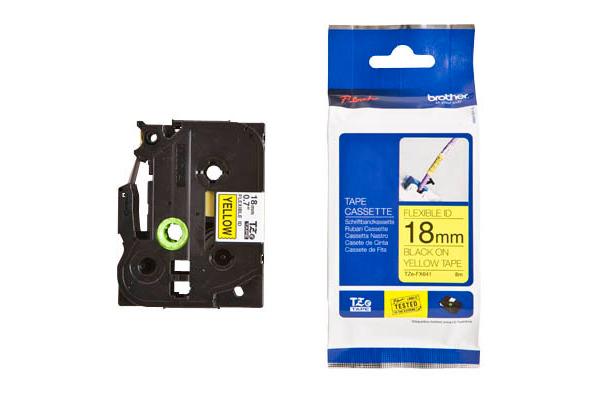 PTOUCH Flexitape lamin. schwarz/gelb TZe-FX641 zu PT-550...