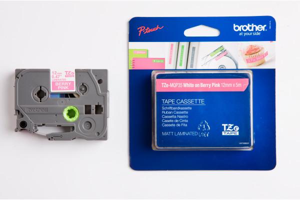 PTOUCH Band lam. weiss/pink matt TZe-MQP35 PT-1280VP 12 mm