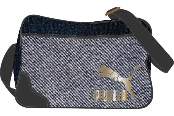 PUMA Originals Reporter Bag 723340001 40x28x14cm Denim