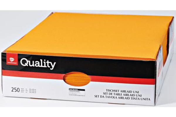 QUALITY Tischset Airlaid uni 992704 orange 250 Stück