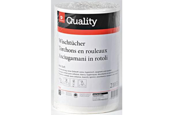 QUALITY Wischtücher soft midi 992840 2-lagig, 6 Rollen à 210 Blatt