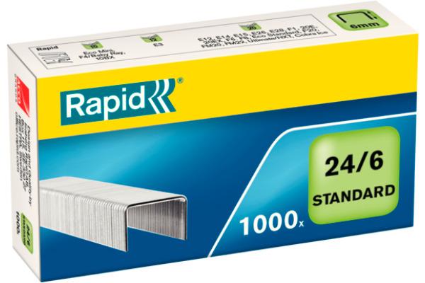 RAPID Heftklammern 24/6 verzinkt 24855600 max. 20 Blatt 1000 Stück