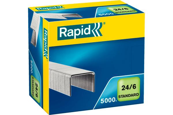 RAPID Heftklammern 24/6 verzinkt 24859800 max. 20 Blatt 5000 Stück