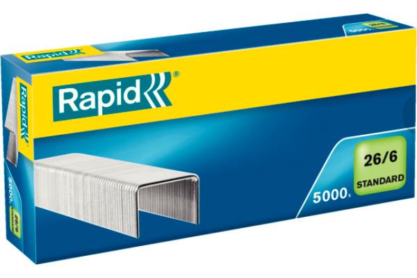 RAPID Heftklammern 26/6 verzinkt 24861800 max. 20 Blatt 5000 Stück