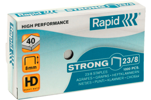 RAPID Heftklammern Strong 23/8 24869800 Schachtel à 1000 Stk