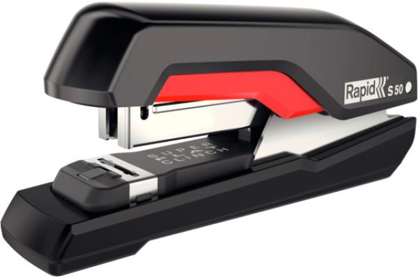 RAPID Heftapparat Supreme Omnipress 5000544 schwarz/rot,...