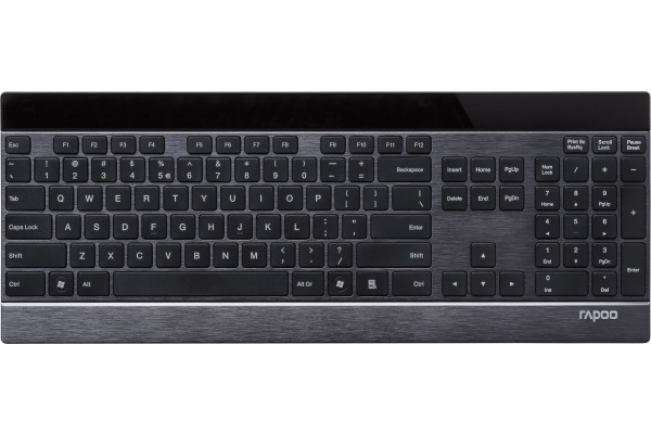 RAPOO Ultra-Slim Touch Keyboard 12363 E9270P black, wireless