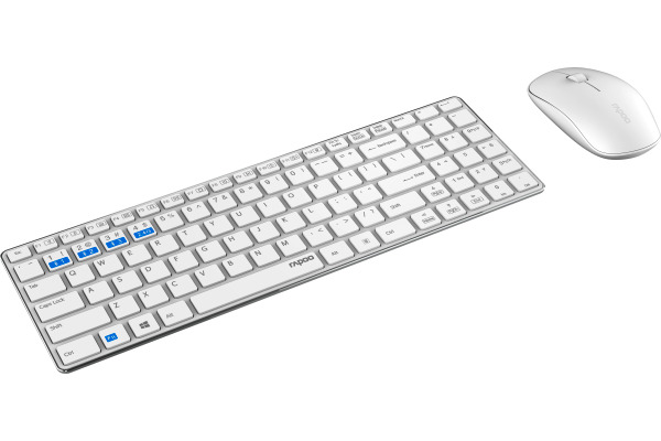 RAPOO 9300M Ultra-Slim Deskset white 18544 Wireless Multi-Mode