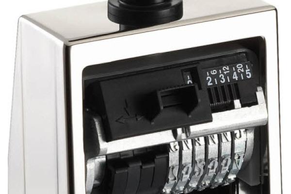 REINER Nummerstempel Schrifth. 5,5mm 53 11 schwarz silber