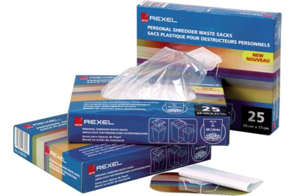 REXEL Abfallsack PP 40lt 40060 transparent 100...