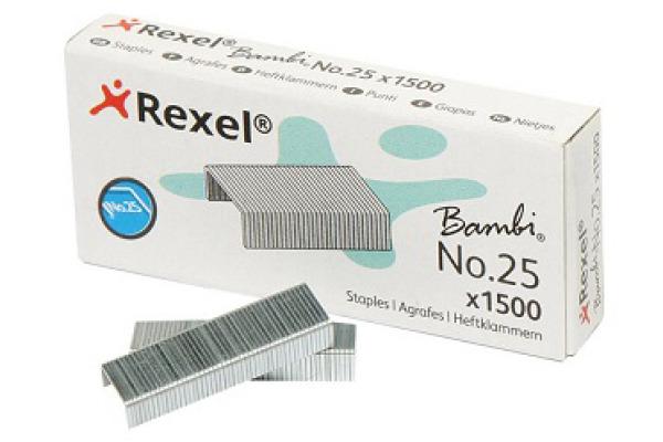 REXEL Heftklammern Nummer 25 5020 1500 Stück