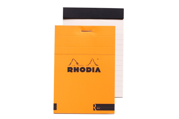 RHODIA Notizblock 85x120mm 122011 liniert orange