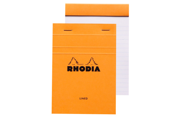 RHODIA Notizblock orange A6 13600 liniert 80 Blatt