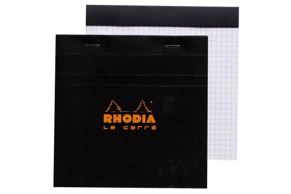 RHODIA Notizblock 148x148mm 148209 kariert schwarz