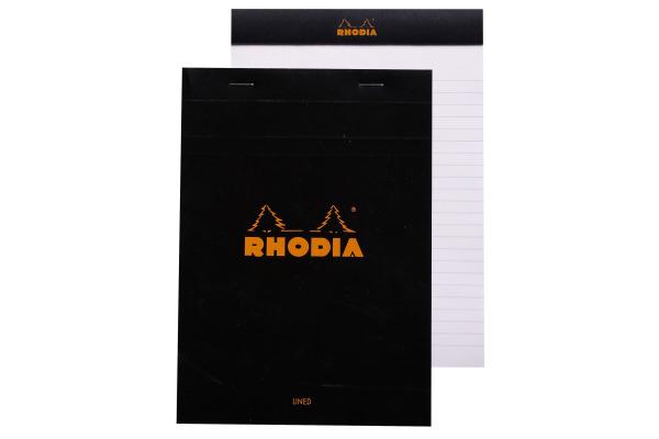 RHODIA Notizblock A5 166009 liniert schwarz