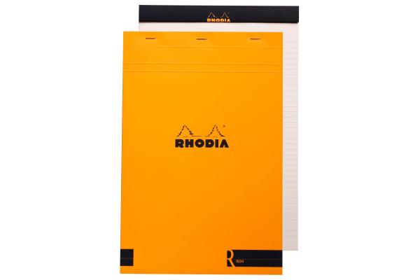 RHODIA Notizblock 210x318mm 192011 liniert orange