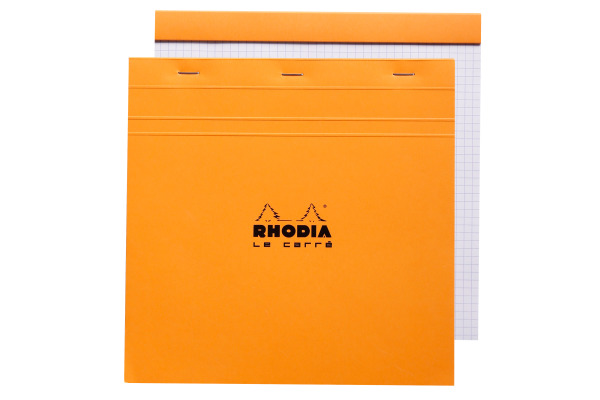 RHODIA Notizblock 210x210mm 210200 kariert orange