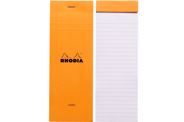 RHODIA Notizblock orange 74x210mm 8600 liniert 80 Blatt