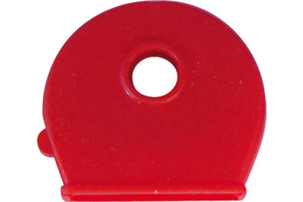 RIEFFEL Schlüsselkappen 8009FS/100 rot 100 Stück