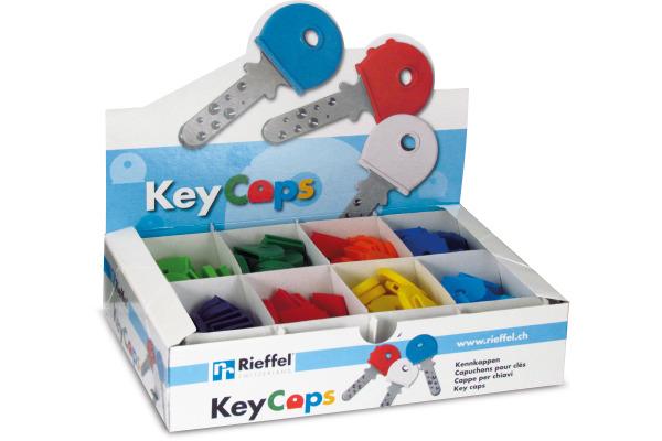 RIEFFEL Schlüsselkappen 8009STV/2 ass. 200 Stück