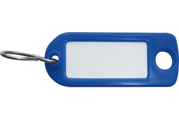RIEFFEL Schlüssel-Anhänger 8034FS BL blau 100 Stück