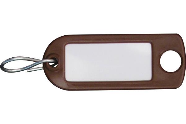 RIEFFEL Schlüssel-Anhänger 8034FS BR braun 100 Stück