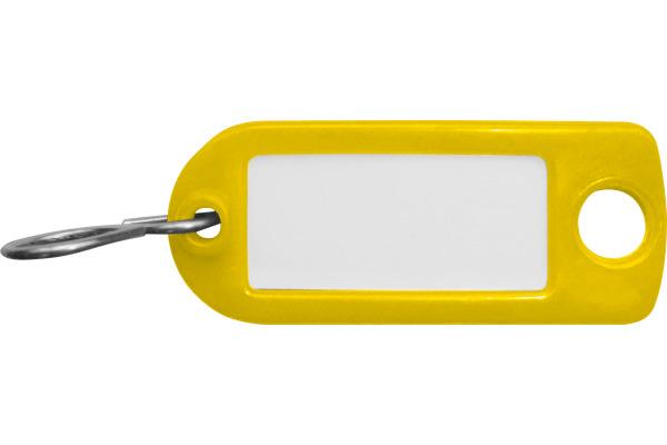 RIEFFEL Schlüssel-Anhänger 8034FS GE gelb 100 Stück