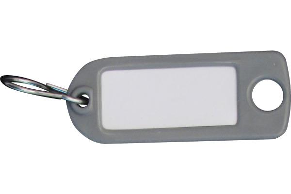 RIEFFEL Schlüssel-Anhänger 8034FS GR grau 100 Stück