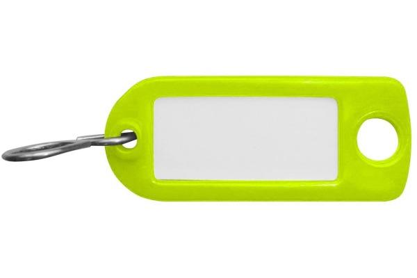 RIEFFEL Schlüssel-Anhänger 8034FSNEONGR neongrün 100 Stück