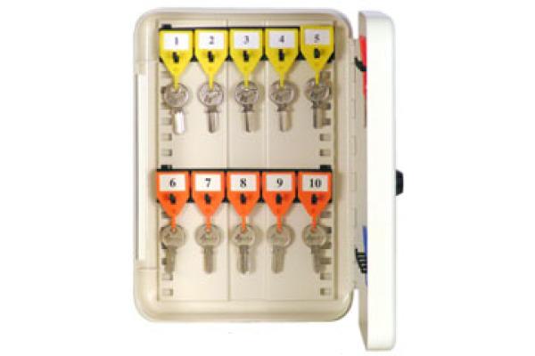RIEFFEL Schlüsselkasten KyStor weiss KR-15.20 20x18,5x7,5cm 20 Haken