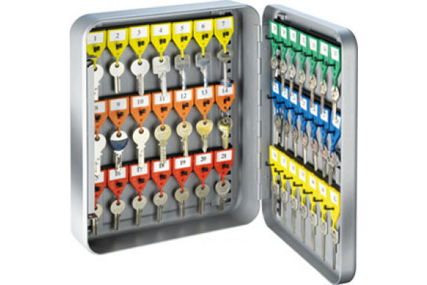 RIEFFEL Schlüsselkasten KyStor grau KR-15.42Z 32x24x8cm 42 Haken