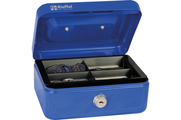 RIEFFEL Geldkassette Valorit VTGK1BLAU 7x15,3x12cm blau