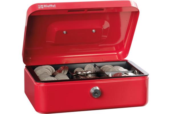 RIEFFEL Geldkassette Valorit VTGK2ROT 7,7x20,7x15,7cm rot