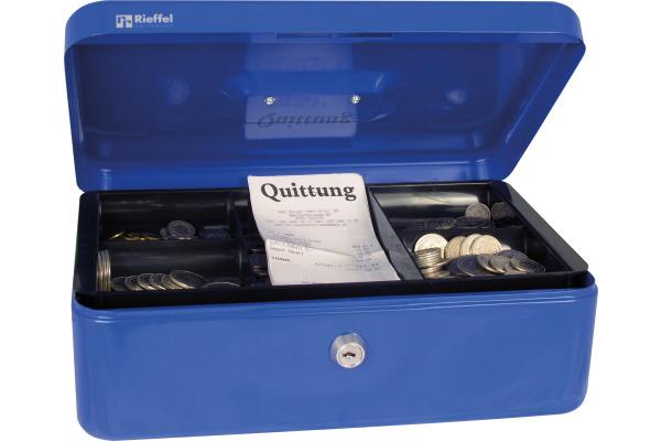RIEFFEL Geldkassette Valorit VTGK3BLAU 8,2x26,2x19,2cm blau