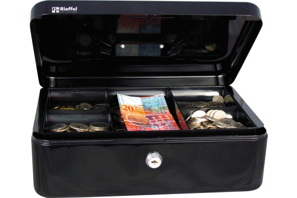 RIEFFEL Geldkassette Valorit VTGK3SCHW 8,2x26,2x19,2cm schwarz